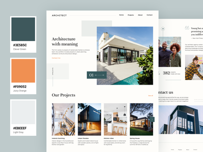Architecture with meaning – web design branding ui typography ux vector design