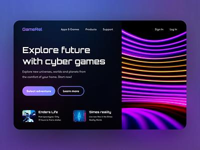 Neon web design user experience web colors icon vector ui ux graphic design futuristic neon design