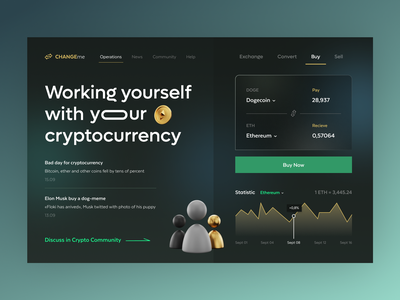 Concept of currency converter web graphic design currency crypto app logo ui illustration typography colors branding vector ux design