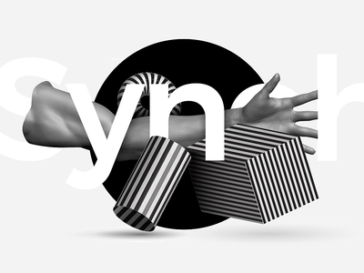 Synch.ronise digital art 3d illustration typography design