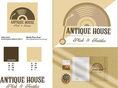 Antique House Brand art graphic design vector minimal logo illustrator illustration icon design branding