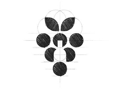 Favorito -  Logo Design Sketch bottle grape winery wine grid sketch procreate clean minimal logo design brand identity branding