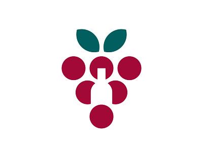 Favorito - Logo Design green red winery wine symbol branding brand identity design logo minimal clean