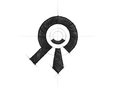 ApplyToMe - Logo Design Sketch tie smile glass magnifying pencil sketch grid branding brand identity design logo minimal clean