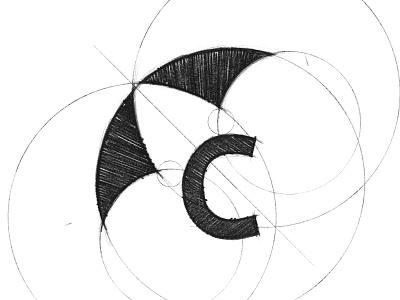 Canopy - Logo Design Sketch letter pencil dental umbrella c sketch grid branding brand identity design logo minimal clean