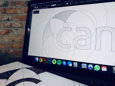 Canopy - Logo Design WIP grid c letter umbrella brand identity branding design logo minimal clean