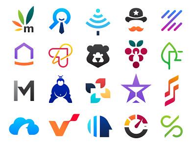 Logo Collection gradient vector logofolio colors brand identity branding collection design logo minimal clean