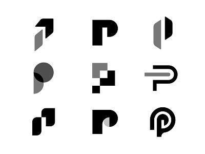 Letter P - Personal Brand Exploration concepts letter p brand personal symbol p letter brand identity branding design logo minimal clean