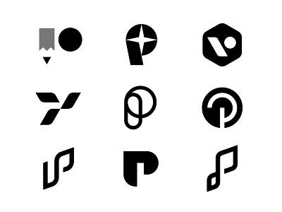 Letter P - Personal Brand Exploration Vol.2 personal symbol letter p p letter concepts brand identity branding design logo minimal clean