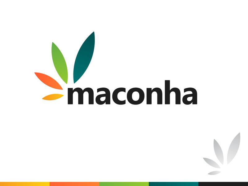 Maconha - Logo Design leaf cannabis gradient branding brand identity design logo minimal clean