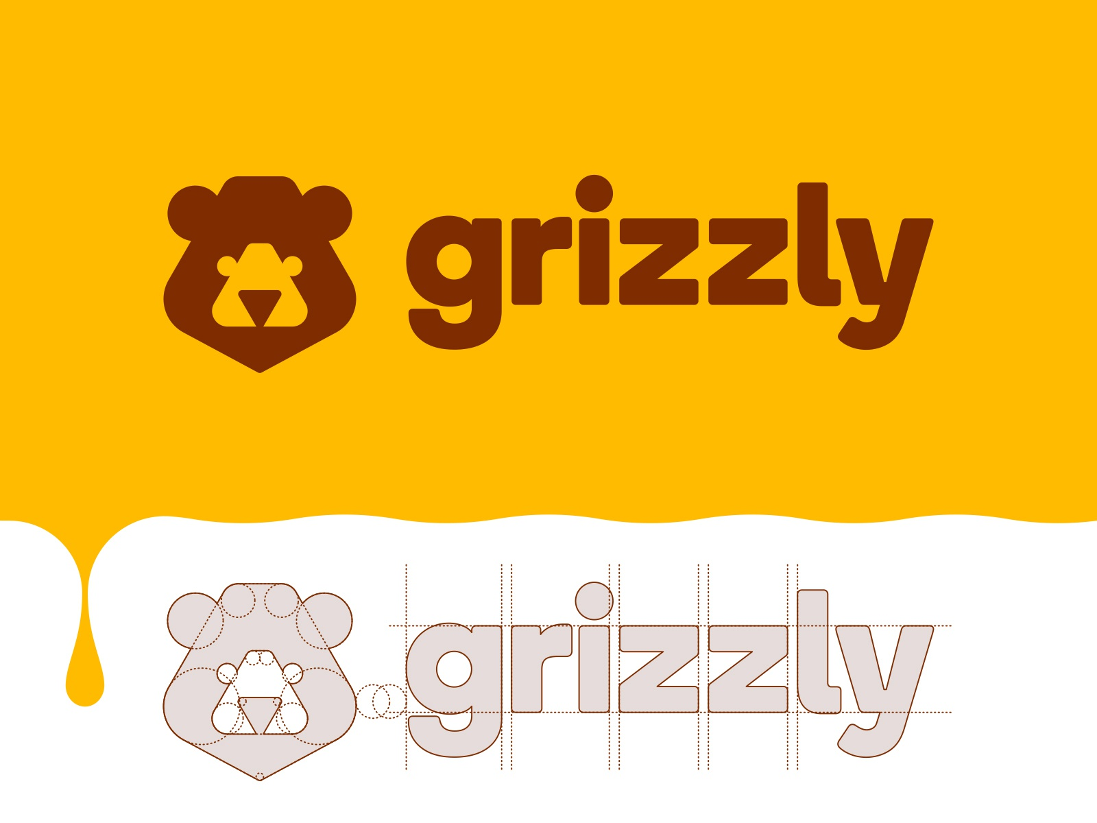 Grizzly logo construction