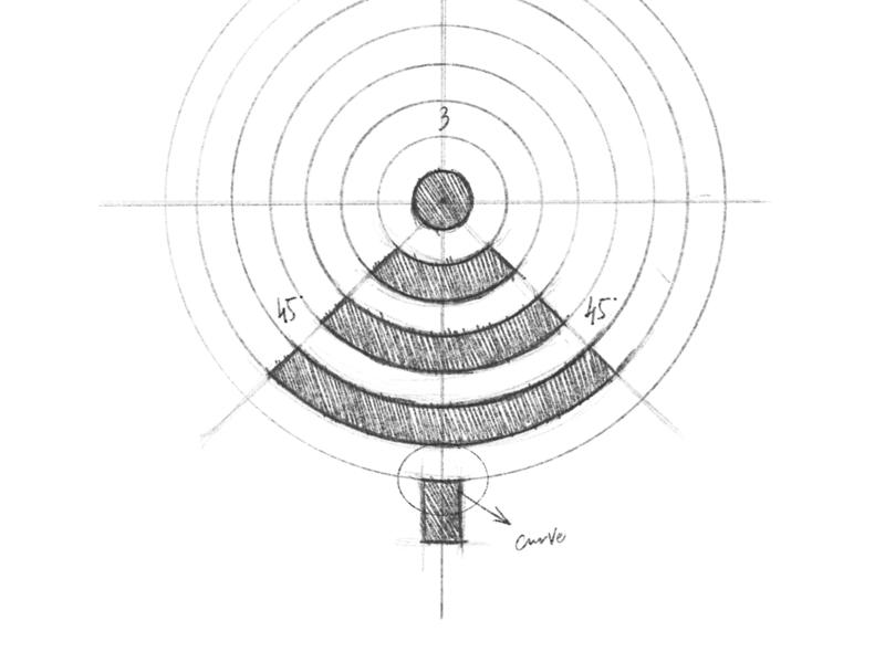 Pine - Logo Design Sketch outdoors camping network wifi tree pine sketch branding brand identity design logo minimal clean