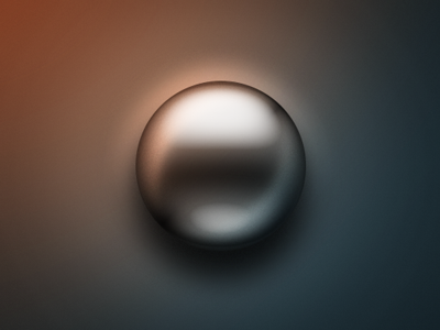 Free 3d sphere chrome layer style
