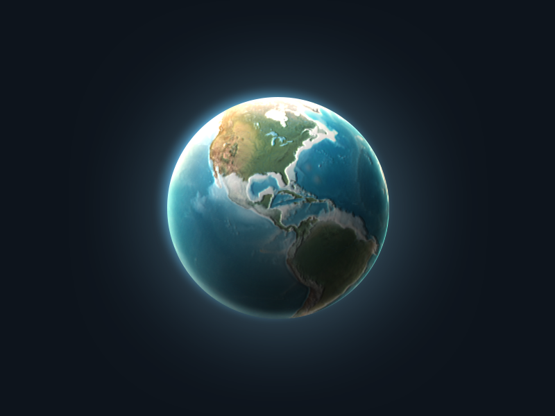 One Layer Style - Earth free sphere psd glow style earth icon