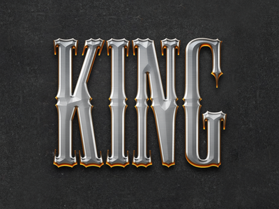 Paladin / King Text Effect Layer Style golden text chromed text layer style bundle paladin shiny text effect text effects layer style