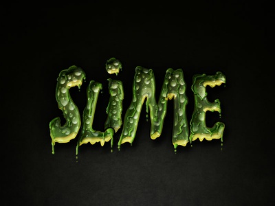 Slimed Text Effect Photoshop Layer Style horror ghost slime gue style layer photoshop effect text slimed
