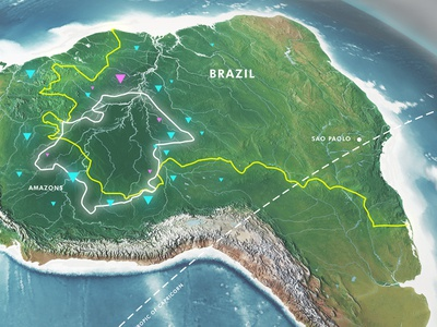 3D World and Infographics - South America world map illustration psd psd realistic earth official map map infographics informations global infographics geography infographics geography earth infographics demographics corporate continents chart business 3d world 3d rendering 3d map 3d earth