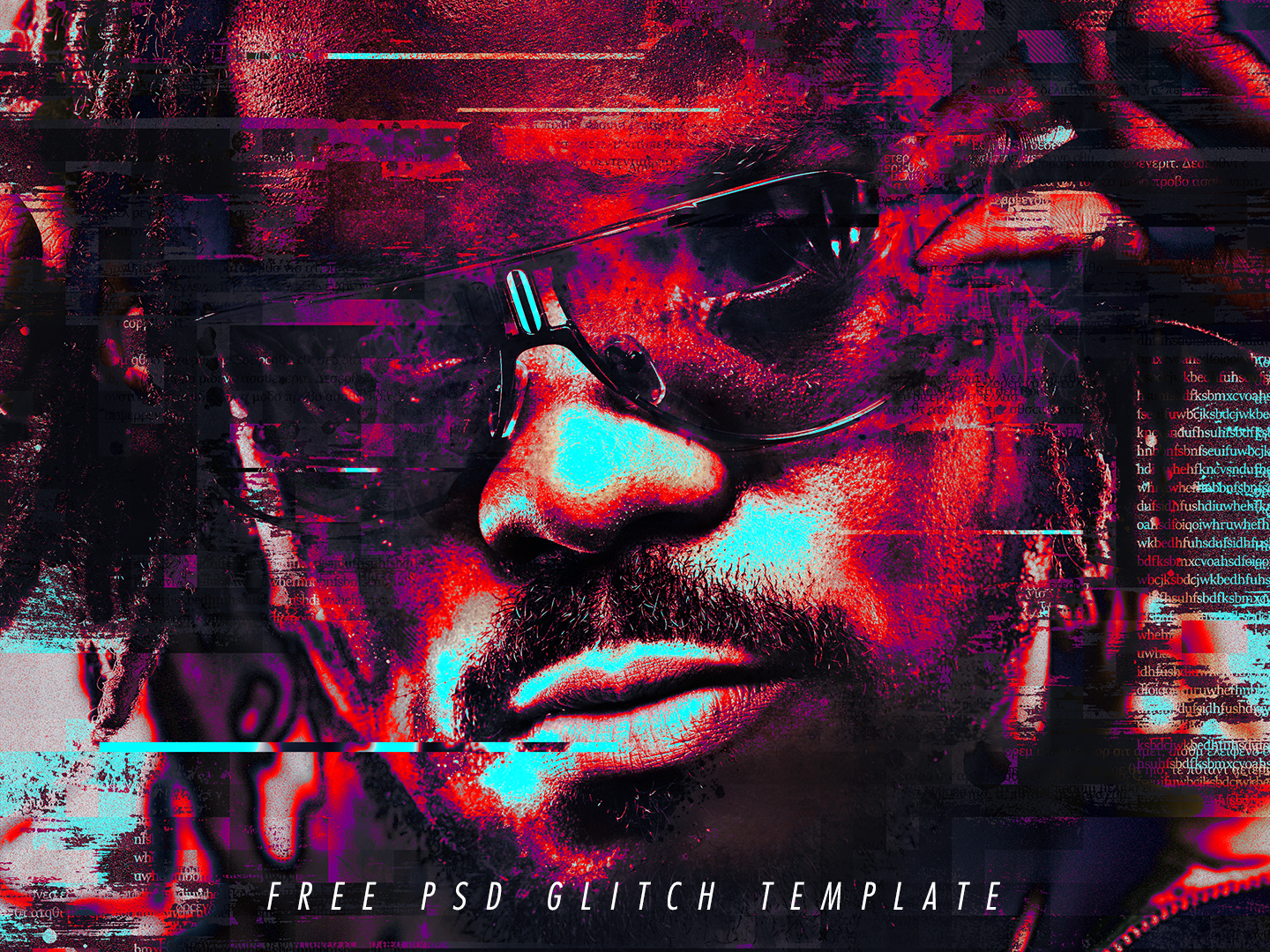 free glitch psd photoshop template by giallo dribbble dribbble