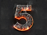 Hot Fire Burning Magma Text Effect Layer Style