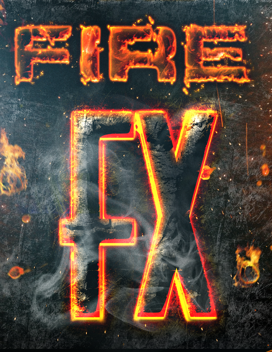 fire text effect photoshop download
