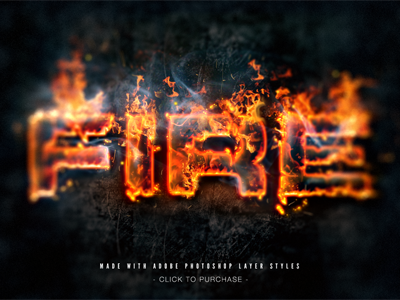 Fire text effect made with Layer Styles by Giallo on Dribbble