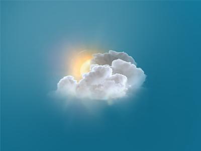 Cloud Weather Icon V3 photomanipulation photoshop illustration sun clouds web design icon weather fresh icons
