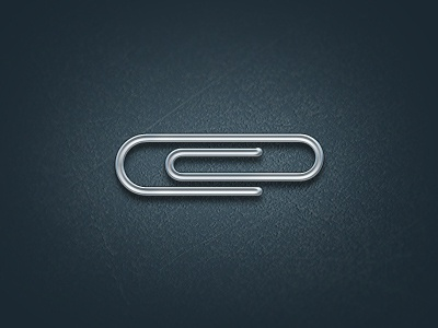 Free PSD Paperclip for fun paperclip metal layer style