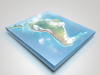 Presentation 3d realistic photoshop map world south america infographics illustrations set