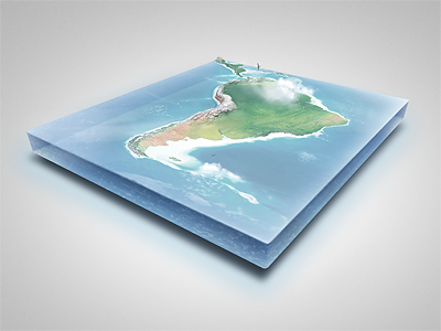 Realistic South America 3D Map - Layered 3d earth 3d illustration 3d map 3d rendering 3d water 3d world world illustrations world images business continents global infographics globe high resolution print realistic earth realistic map realistic world south america water box water slice web world map world png world slice