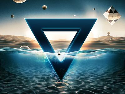 Underwater Symbol scenery sunken water vfx resource graphic premium art creativity graphics psd text effect template