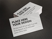 Free Card / Flyer mock-ups - Psd files in high res