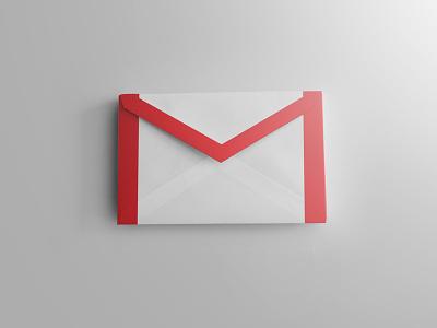 Free Realistic gmail icon realistic gmail icon red white photoshop