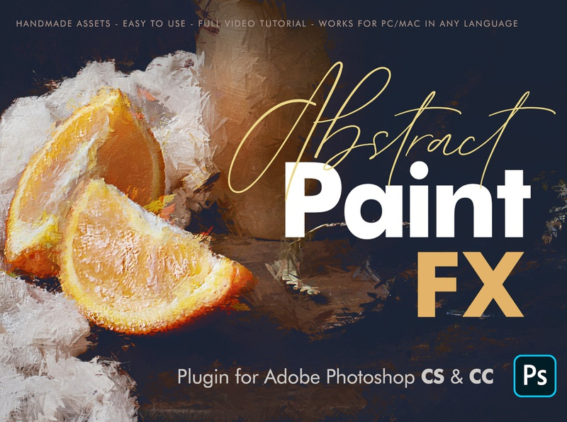 Abstract Paint FX - Photoshop Plugin painting action painted look paint effect paint oil paint impressionist hdr effects dry digital painting digital classic canvas best seller atn artwork artistic art add on actions
