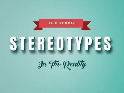 Old People Stereotype Scene Layout typography loop animation art gradient graphic design illustration flat design design vector