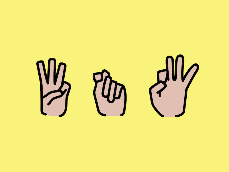 WTF hands vector illustration f t w language sign american asl