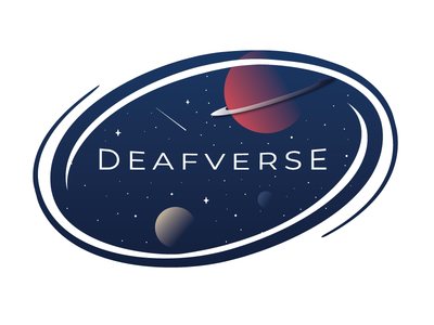 (Deaf)Verse Wormhole Logo wormhole future galaxy stars planet space universe deaf