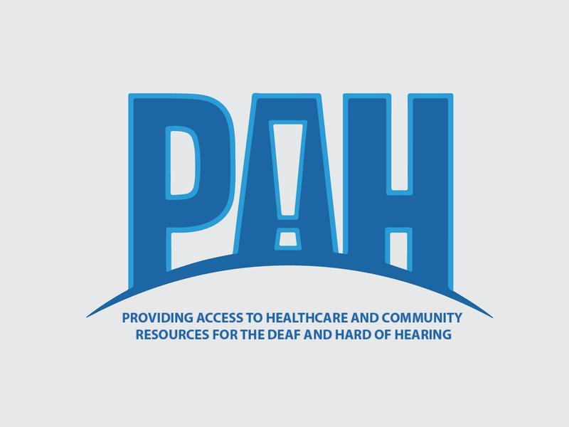 PAH! blue health logo slang deaf pah