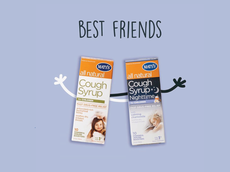 Maty's Cough Syrup Best Friends product natural syrup cough ad