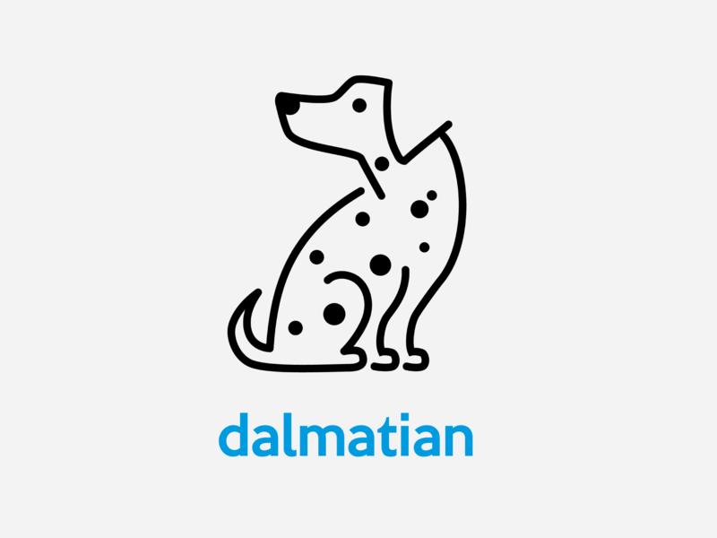 Dalmation startup logo dalmation dog logo