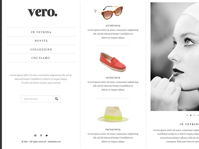vero. web webdesign design layout minimal simple clean fashion serif black and white grey greyscale