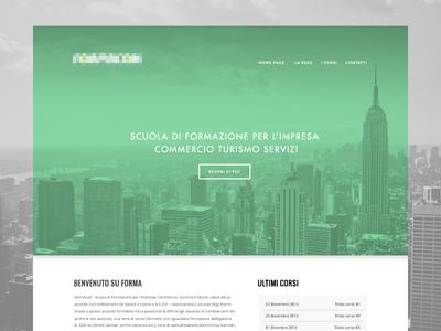 Mint Layout webdesign layout green mint skyline big photography