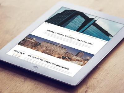 Law Firm  photography big photos fullscreen parallax white clean responsive minimal layout webdesign
