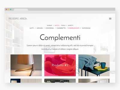 Design Forniture browser layout responsive font cherry grey typography clean minimal webdesign