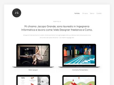 Personal Portfolio designer freelance webdevelopment responsive clean white minimal website macbook apple portfolio webdesign
