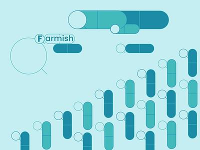 Farmish blue green identity vector graphic design design branding