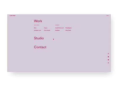 Canvas Studio team hover website studio design ui ux