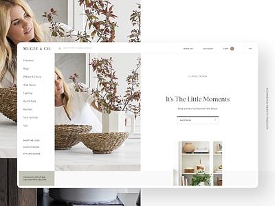 McGee & Co Site Design studio mcgee furniture mcgee design ui ux website layout ecommerce