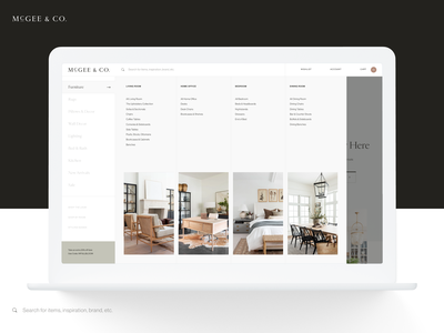 McGee & Co Navigation mcgee navigation layout interactive design ui ux website ecommerce