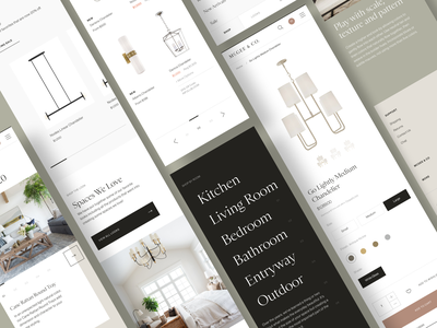 McGee & Co Mobile furniture mcgee design layout ecommerce mobile website ux ui