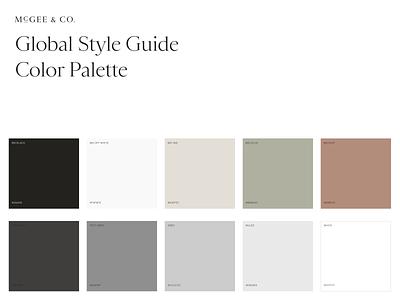 McGee & Co Color Palette ux website ecommerce palette branding brand colors design ui